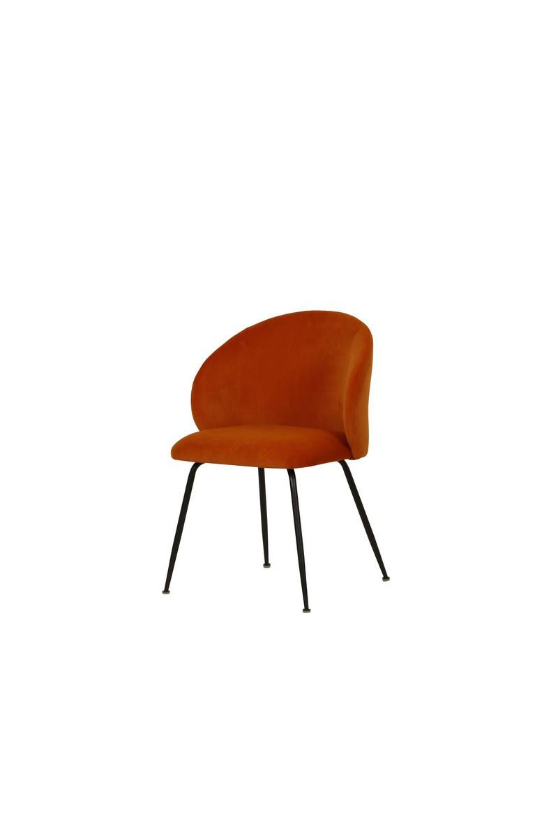 Стул M-39 медный мягкое кресло на металлокаркасе в стиле модерн для дома и HoReCa