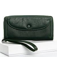 Зеленый кошелек WS-22 dark-green женский натуральная кожа, фото 1