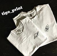Парные футболки . Футболки для двоих . Марс и Ракета