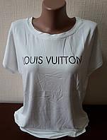 Женская футболка с рисунком, батал, большие размеры