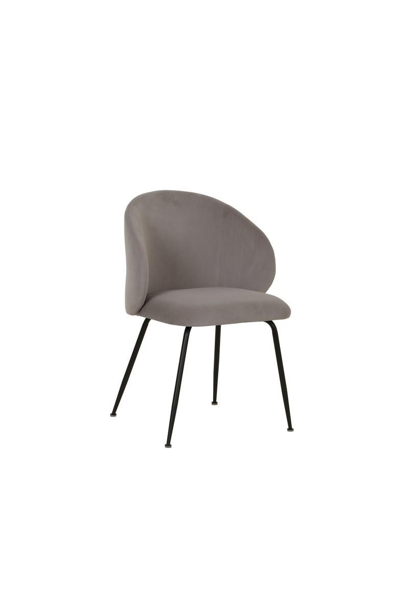 Стул M-39 серый мягкий кресло на металлокаркасе в стиле модерн для дома и HoReCa