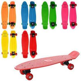 Скейт MS 0847 пенни, 55-14,5см(пластик-антискол),пластик подвеска,колесаПВХ,подш608Z,6 цветов