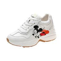 Женские белые кроссовки с Mickey Mouse