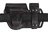 Чехол двойной под магазин ПМ + наручники, чехол для наручников, подсумок для магазина ПМ (кожаный, черный), фото 2