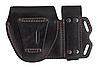 Чехол двойной под магазин ПМ + наручники, чехол для наручников, подсумок для магазина ПМ (кожаный, черный), фото 3