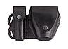 Чехол двойной под магазин ПМ + наручники, чехол для наручников, подсумок для магазина ПМ (кожаный, черный), фото 4
