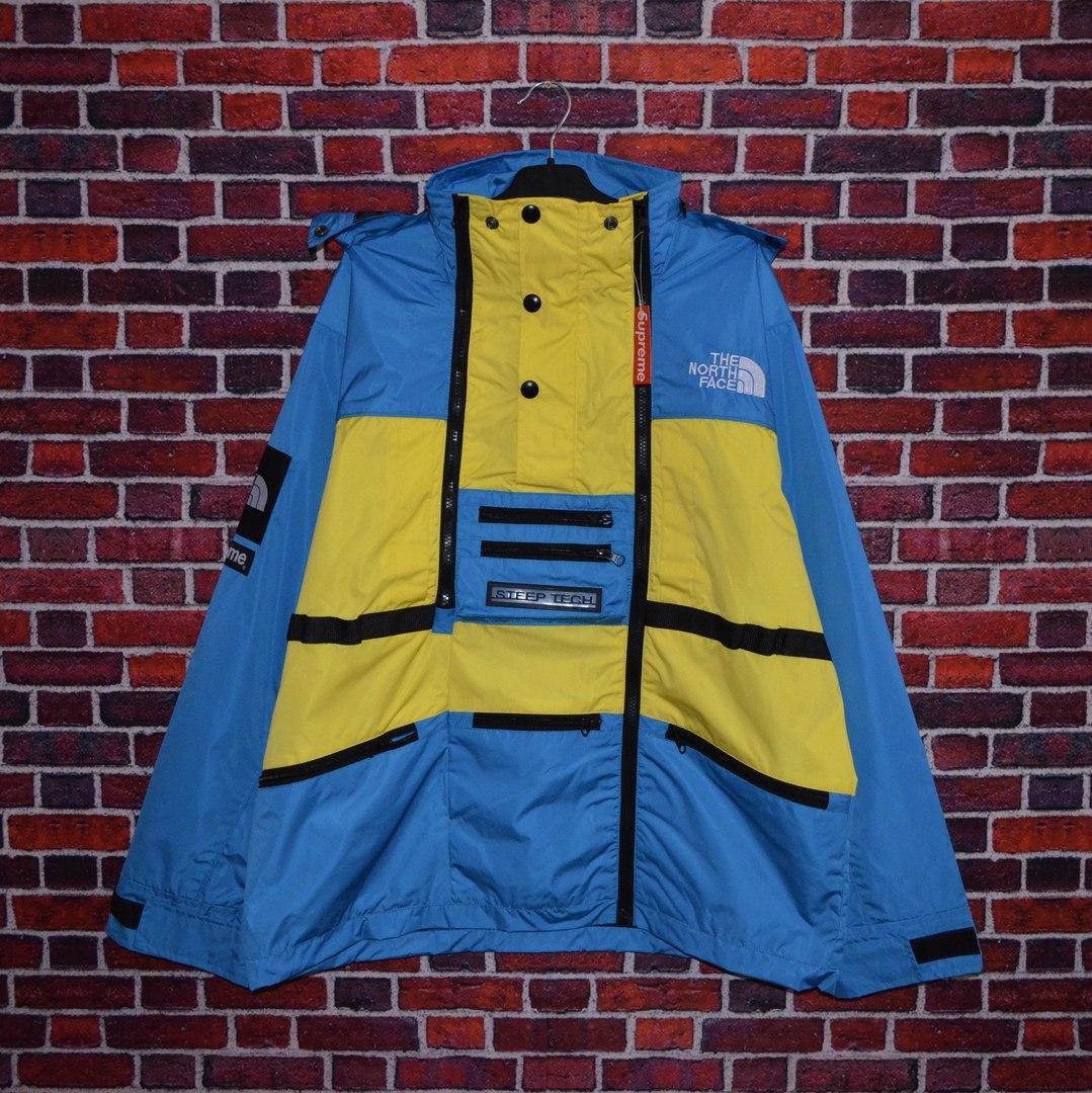 Куртка Supreme x The North Face SteepTech Yellow/Blue