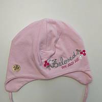 Шапка трикотажная для девочки Польша MARIKA Розовый р. 36, 38, фото 1