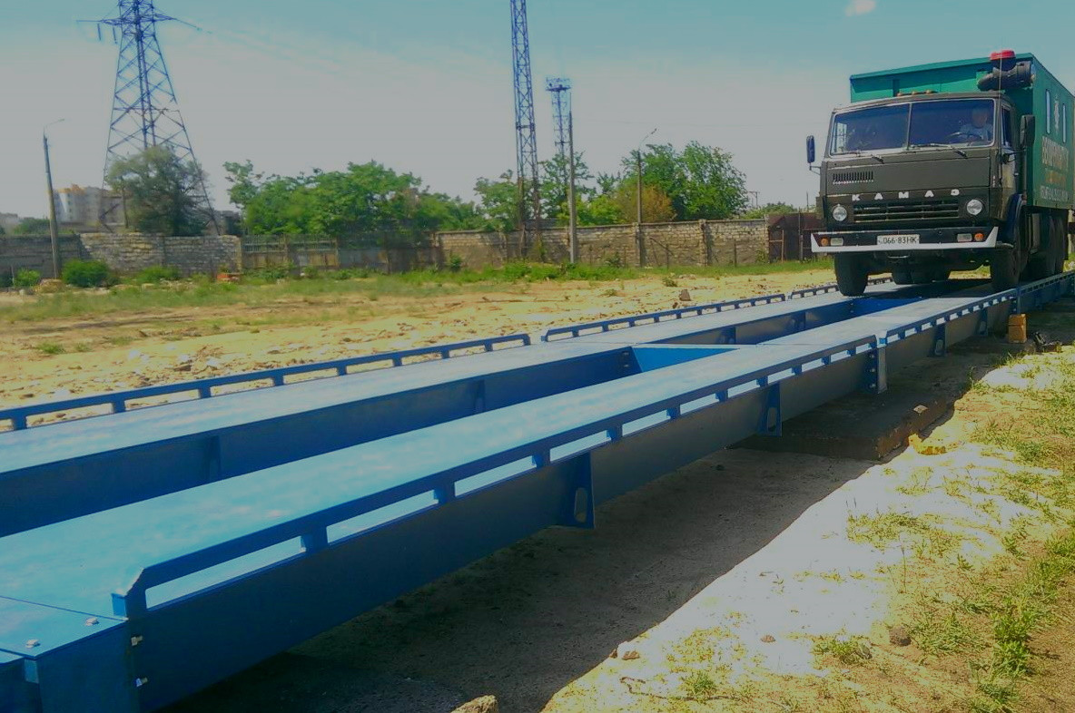 Бесфундаментные автомобильные весы - 24 м , на 100 тонн ( металлическая платформа)