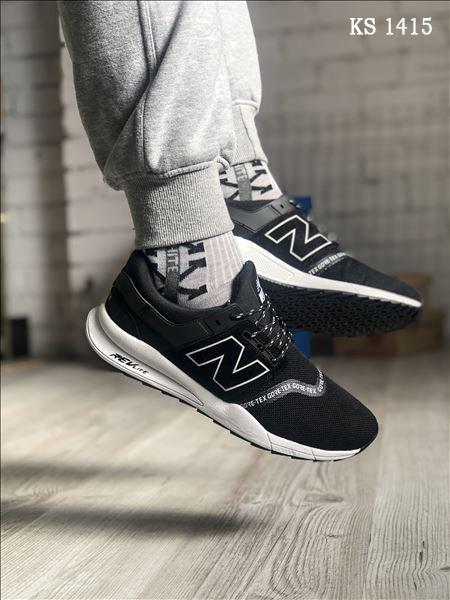 Чоловічі кросівки New Balance 247, чорні / кросівки Нью Баланс (Топ репліка ААА+)