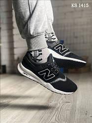 Мужские кроссовки New Balance 247, черные / кросівки Нью Баланс (Топ реплика ААА+)