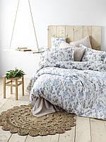 Двуспальный комплект постельного белья Бязь голд ORCHID голубой 200*220 см. (9962-02_2.0LH)