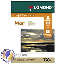 Односторонняя матовая фотобумага для сублимационной печати, A4, 120 г/м2, 100 листов