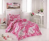 Двуспальный комплект постельного белья Бязь голд PINK  200*220 см. (2255_2.0LH)