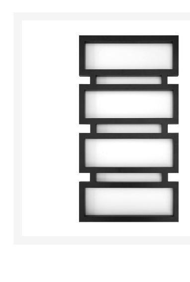 Полотенцесушитель черный 80*53 см GENESIS-AQUA QUATTRO 1-77