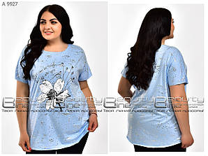 Летняя женская футболка размер уни 54.56.58.60