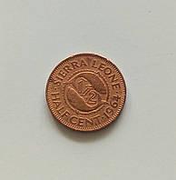 1/2 цента Сьерра-Леоне 1964 г., фото 1