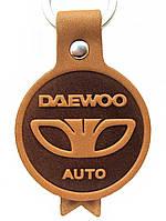 Кожаный брелок Daewoo Деу брелок для ключей, фото 1
