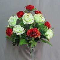 Роза микс (12 голов) букет искусственный