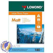 Односторонняя матовая фотобумага для струйной печати, A4, 180 г/м2, 25 листов