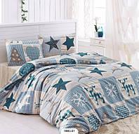 Двуспальный комплект постельного белья Бязь голд STARS 200*220 см. (9863-01_2.0LH)