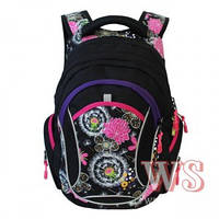 Рюкзаки для девочек Winner Stile 29*14*40 (чёрно-бирюзовый, чёрно розовый)