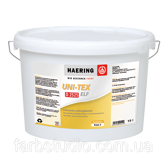 Фарба латексна матова Haering Uni-Tex Elf seidenglänzend D 2525 - база 1