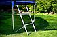 """СпортивныйБатут Atleto 465 см діаметр Сітка+Сходи""""Синій Навантаження 180 кг, фото 4"""