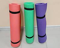 Каремат, коврик для похода и спорта, фитнеса, танцев  с фиксирующим ремнем 180 см х 60 см