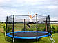 Батут Atleto 404 см с двойными ножками + Сетка + Лестница Синий Нагрузка 180 кг, фото 7