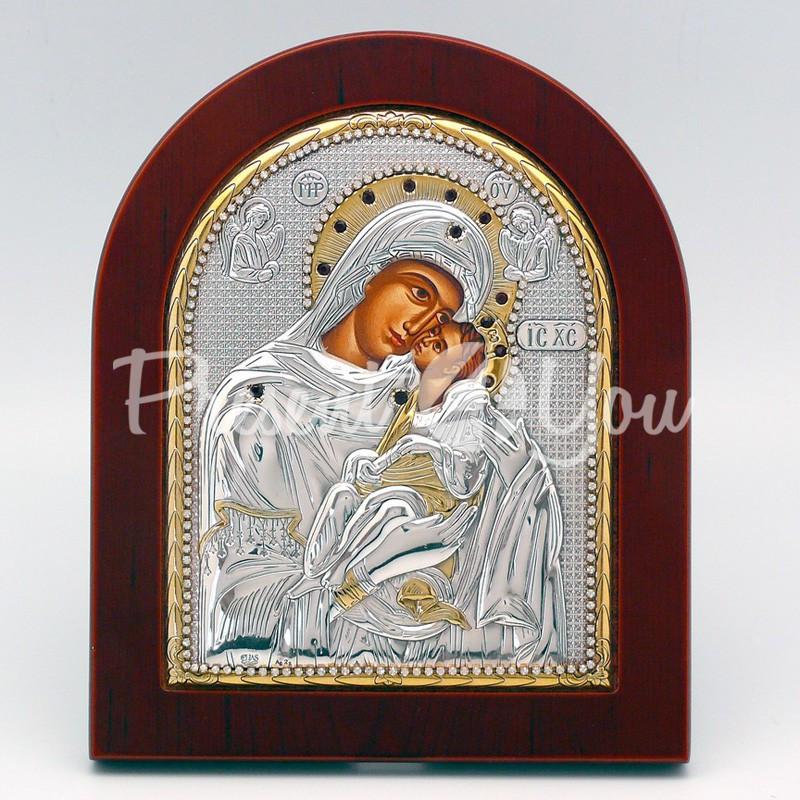 Икона Богородицы «Сладкое Лобзание» («Гликофилуса»), 15х19 см.