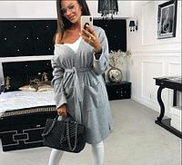 Женский стильный удлиненный кардиган с карманами, фото 1