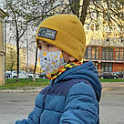 Маска защитная двухслойная хлопковая многоразовая детская в трех размерах, фото 2