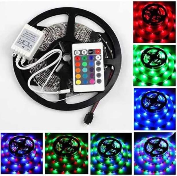 Світлодіодна LED стрічка 3528 RGB 12V кольорова 5м + пульт + блок