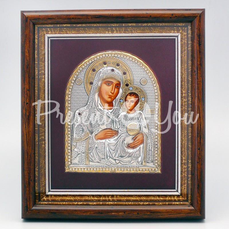 Иерусалимская икона Божией Матери, 15х17 см.