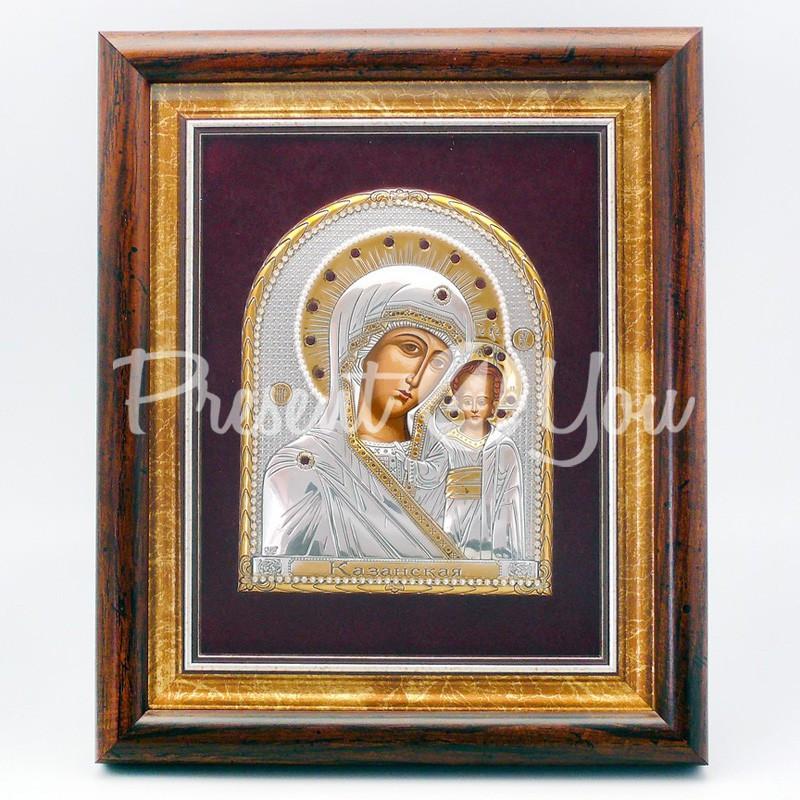 Казанская икона Божией Матери, 26х22 см.