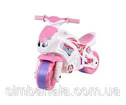 Детский мотоцикл для девочки(розово-белый) ТехноК