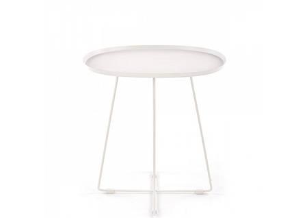Журнальный стол TINA 50*42 (2 цвета: черный, белый)(Halmar), фото 2