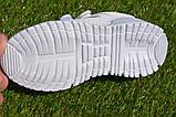 Кросівки дитячі на липучках Nike найк білі 31-36, копія, фото 3