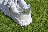 Кросівки дитячі на липучках Nike найк білі 31-36, копія, фото 4