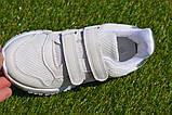 Кросівки дитячі на липучках Nike найк білі 31-36, копія, фото 5