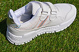 Кросівки дитячі на липучках Nike найк білі 31-36, копія, фото 8
