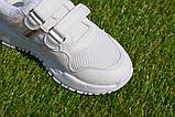 Кросівки дитячі на липучках Nike найк білі 31-36, копія, фото 6