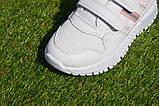 Кросівки дитячі на липучках Nike найк білі 31-36, копія, фото 7