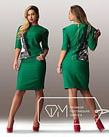 Батальное женское платье с кружевом и змейкой на спине, фото 1