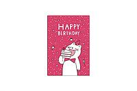 """Мини-открытка 040. 95*65 мм """"Happy Birthday"""""""