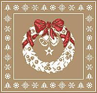 Крупная цветная схема от Киевская Русь. Подушка. Рождественский узор