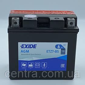 Мото аккумулятор EXIDE ETZ7-BS 6Ah