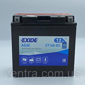Мото аккумулятор EXIDE ET14B-BS 12Ah