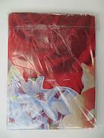 Двуспальное постельное белье с красными цветами